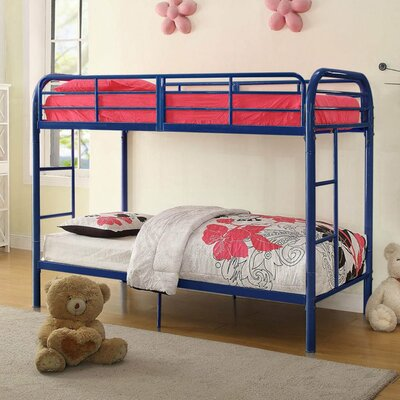 Eddyville Twin Over Twin Bunk Bed Bed Frame Color: Blue