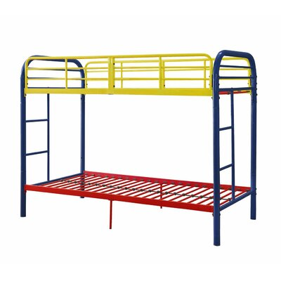 Eddyville Twin Over Twin Bunk Bed Bed Frame Color: Rainbow