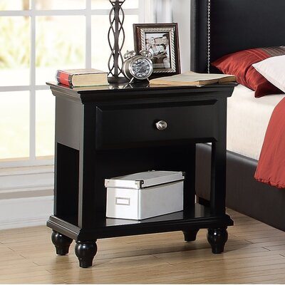 Laguna 1 Drawer Nightstand Color: Black