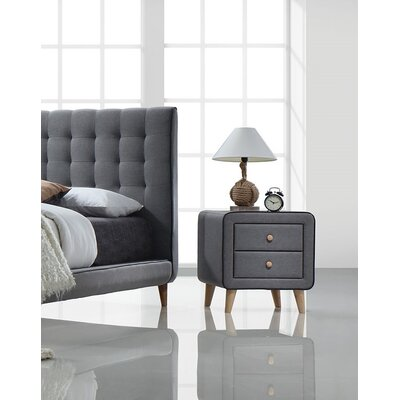 Cleitus 2 Drawer Nightstand