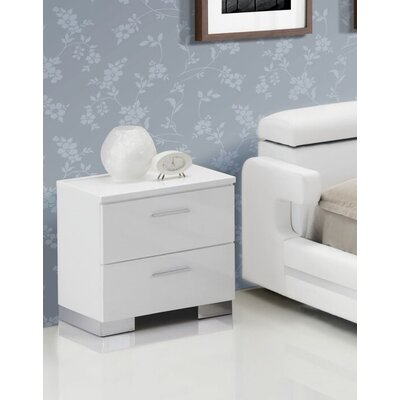 Petrovich 2 Drawer Nightstand
