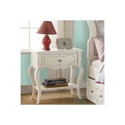 Eddins 1 Drawer Nightstand Color: Gray