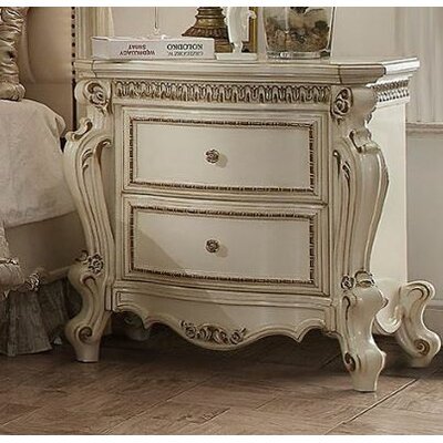 Jardine 2 Drawer Nightstand Finish: Antique Pearl