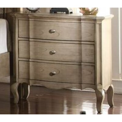 Adler 3 Drawer Nightstand