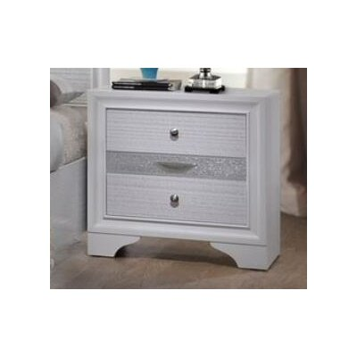 Hawker 3 Drawer Nightstand Color: White