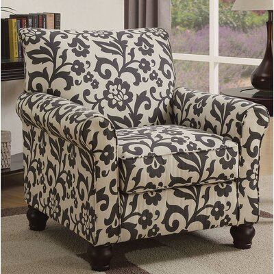 Kater Armchair Upholstery: Brown/Ivory