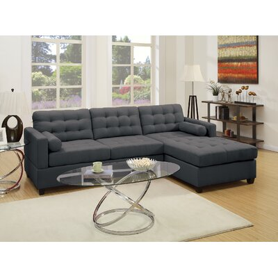 Beverly Sectional Upholstery: Dark Gray