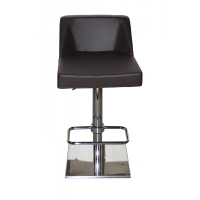 Oss Adjustable Height Swivel Bar Stool Upholstery: Brown
