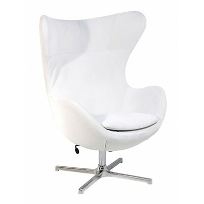 Muna Balloon Chair Upholstery: White