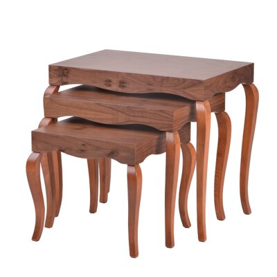 Victor 3 Piece Nesting Tables Finish: Walnut