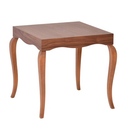 Victor End Table Color: Walnut