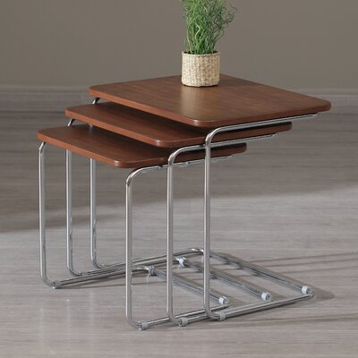 Kent 3 Piece Nesting Tables Color: Walnut