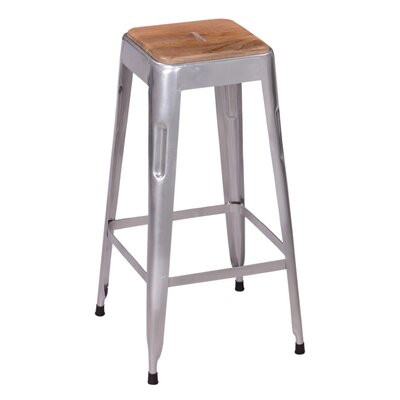 Remington 30 Bar Stool Base Finish: Silver