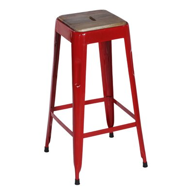 Remington 30 Bar Stool Base Finish: Red