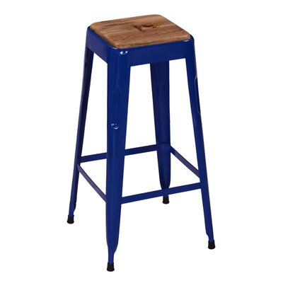 Remington 30 Bar Stool Base Finish: Blue