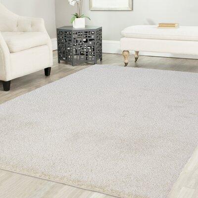 Artz White Area Rug Size: 5 x 8