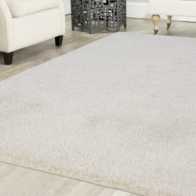 Melodee Shag White Area Rug Rug Size: 52 x 72