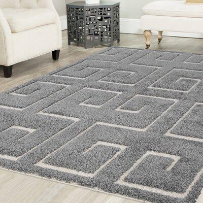 Orla Platinum Shag Gray Area Rug Rug Size: Square 6 x 6