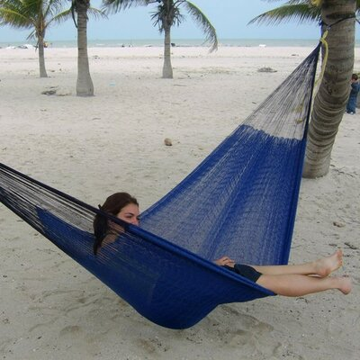 Cotton Tree Hammock Color: Blue