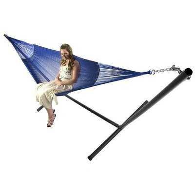 Cotton Hammock with Stand Color: Blue