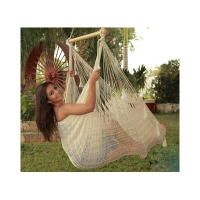 Cotton and Nylon Chair Hammock Color: Natural, Size: Large