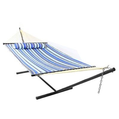 Polyester Hammock with Stand Color: Catalina Beach, Size: 12