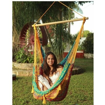 Cotton and Nylon Chair Hammock Color: Multi, Size: Extra Large
