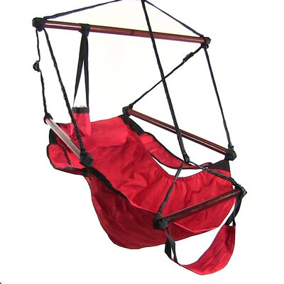 Polyester Chair Hammock Color: Red