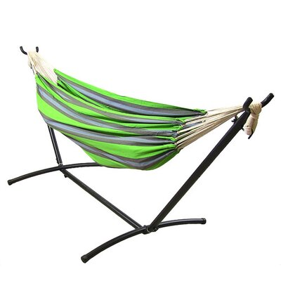 Cotton Hammock with Stand Color: Midnight Jungle