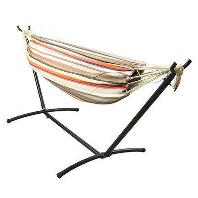 Cotton Hammock with Stand Color: Beach Sunrise