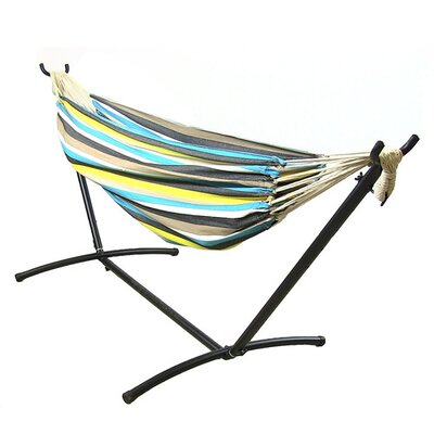 Cotton Hammock with Stand Color: Ocean View