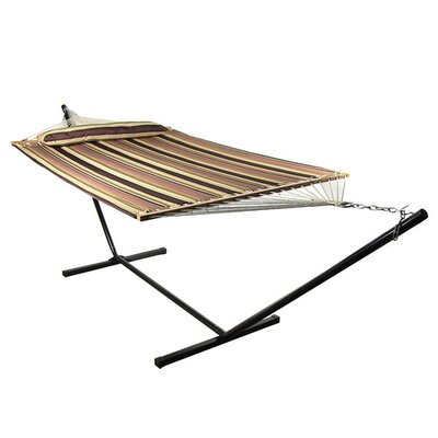 Sandy Beach Polyester Hammock with Stand Size: 15