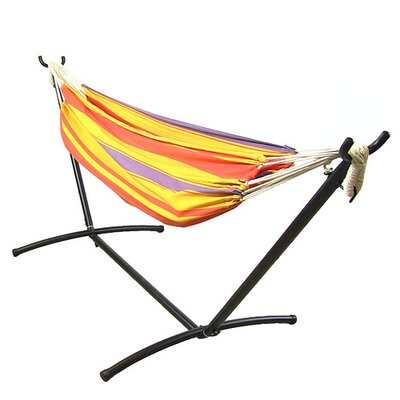 Cotton Hammock with Stand Color: Summer Breeze