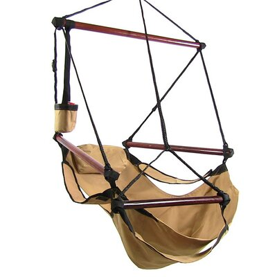 Polyester Chair Hammock Color: Tan
