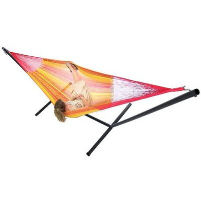 Cotton Hammock with Stand Color: Tequila