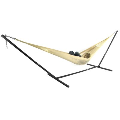 Cotton Hammock with Stand Color: Natural