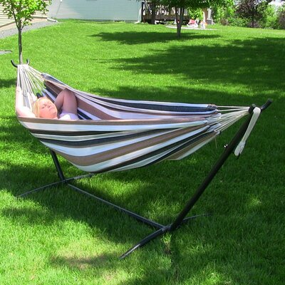Cotton Hammock with Stand Color: Calming Desert