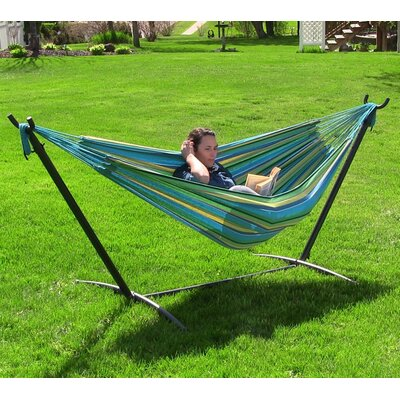 Cotton Hammock with Stand Color: Sea Grass