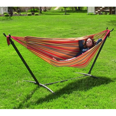 Cotton Hammock with Stand Color: Sunset