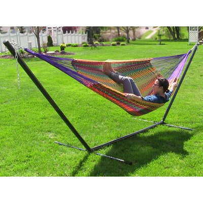 Cotton Hammock with Stand Color: Multi