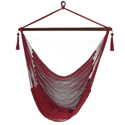 Caribbean Polyester Chair Hammock Color: Red