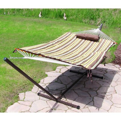 Cotton Hammock with Stand Color: Desert