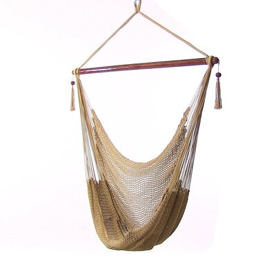 Caribbean Polyester Chair Hammock Color: Tan
