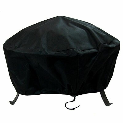 Fire Pit Cover Size: 18 H x 40 W x 40 D, Color: Black