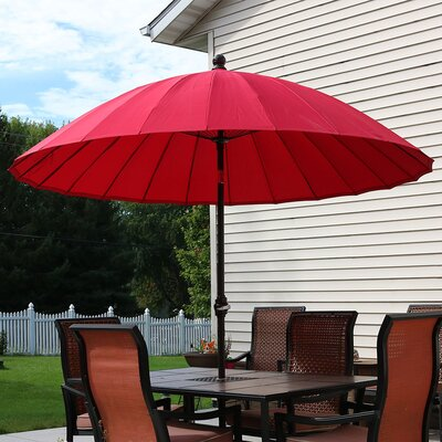 8 Shanghai Aluminum Beach Umbrella Fabric: Red