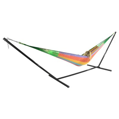 Cotton Hammock with Stand Color: Multicolor