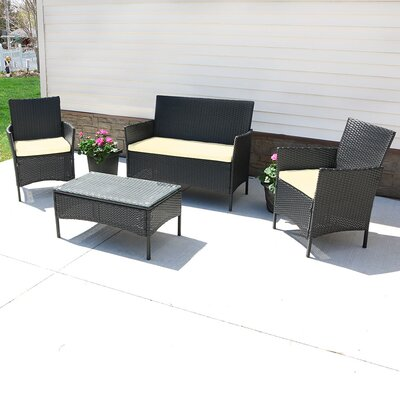 Adelaide 4 Piece Deep Seating Group with Cushion