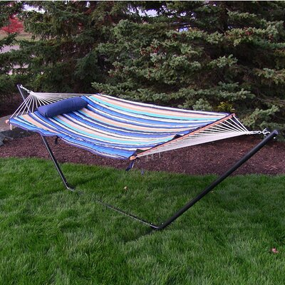 Rope Hammock with Stand Color: Lakeview