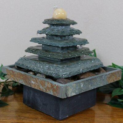 Slate Pyramid Tabletop Water Fountain GSI-851