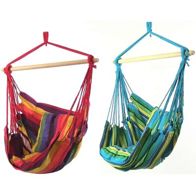 Hanging Chair Hammock Color: Sunset/Ocean Breeze